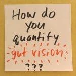 How do you quantify gut vision?