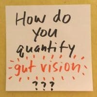 How do you quantify gut vision?