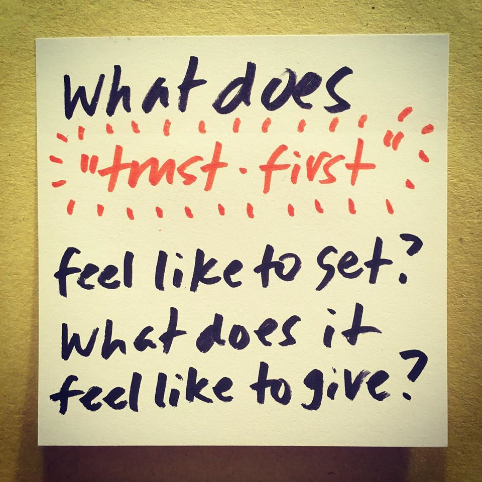 What does trust first feel like?